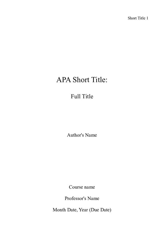apa format example no title page