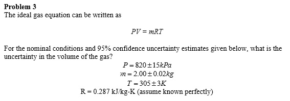 ideal gas equation example questions