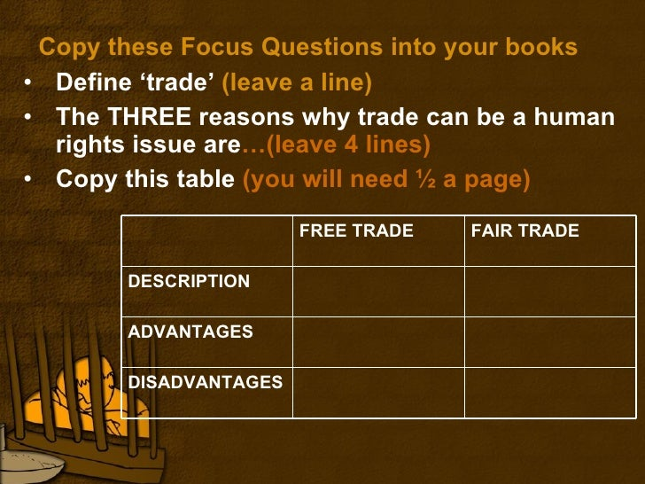 explain how fair trade is an example of ethical trading