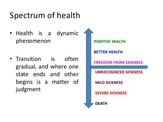 positive concept of health example