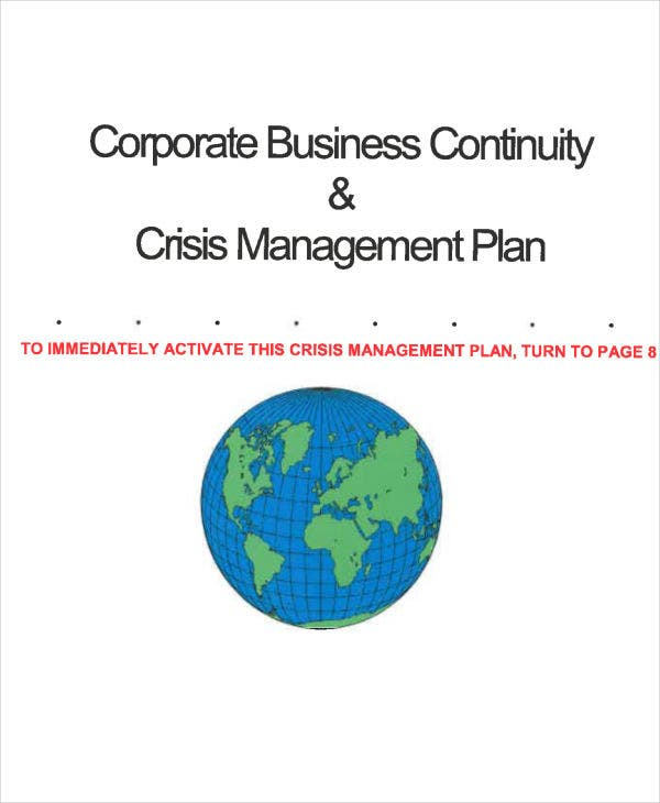 an example of crisis management in busines