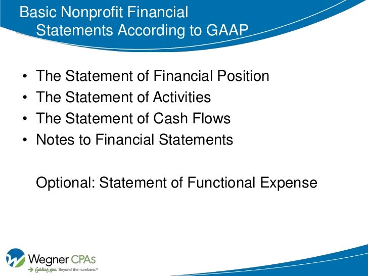 financial statements for nonprofit organizations example