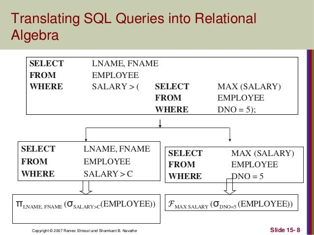 example of relational algebra with queries pdf