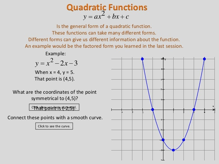 give an example of a quadratic function