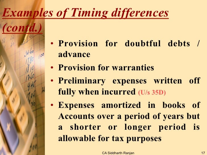 what is deferred tax with example