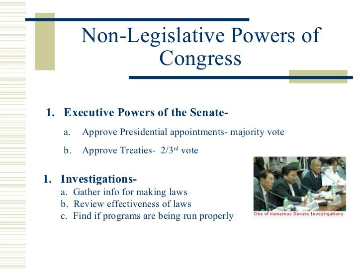 example of interrelations between congress and the president