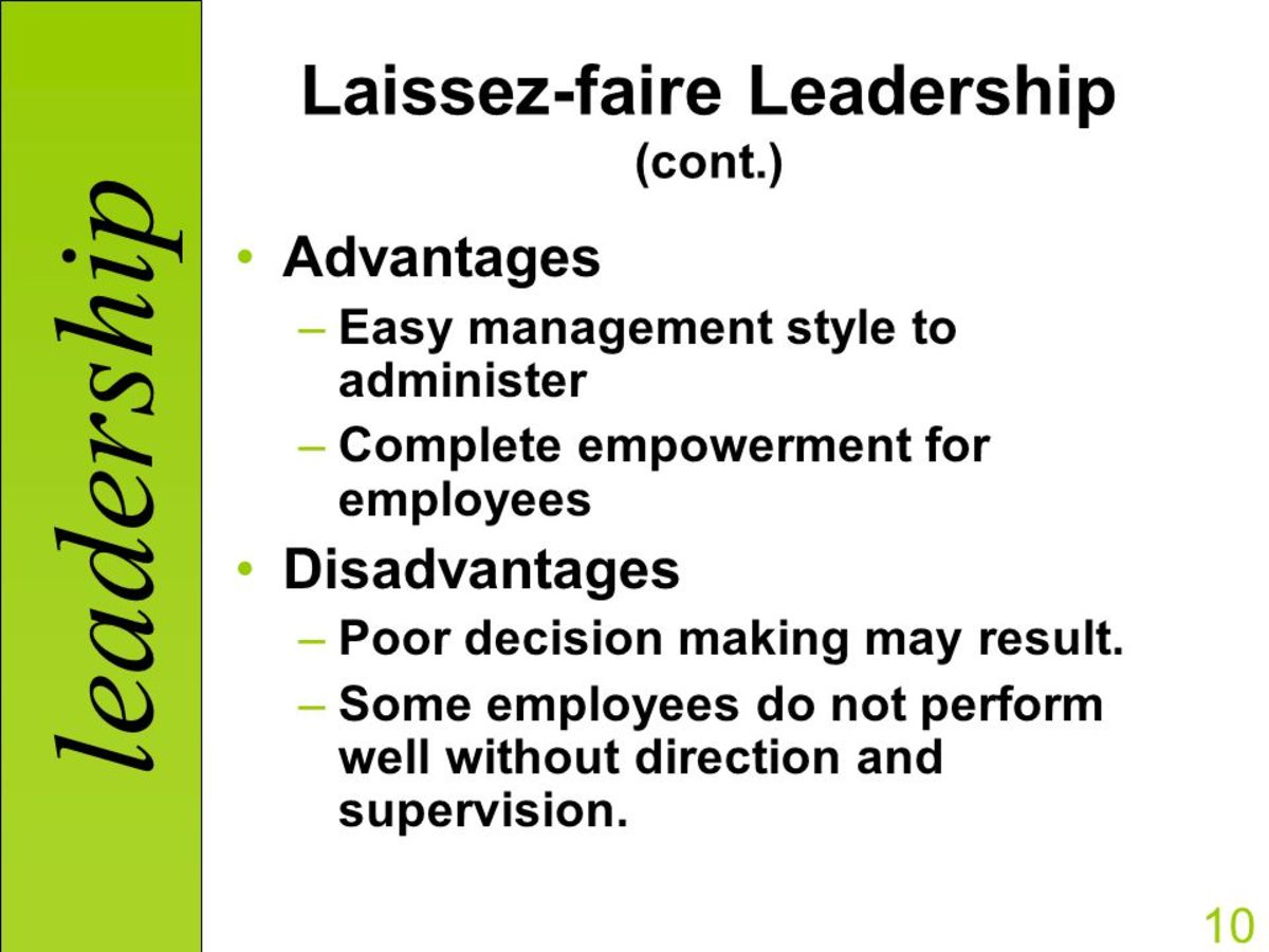 what is an example of laissez faire