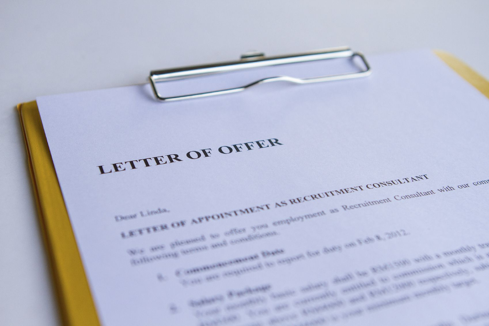 how to counter offer a job offer example