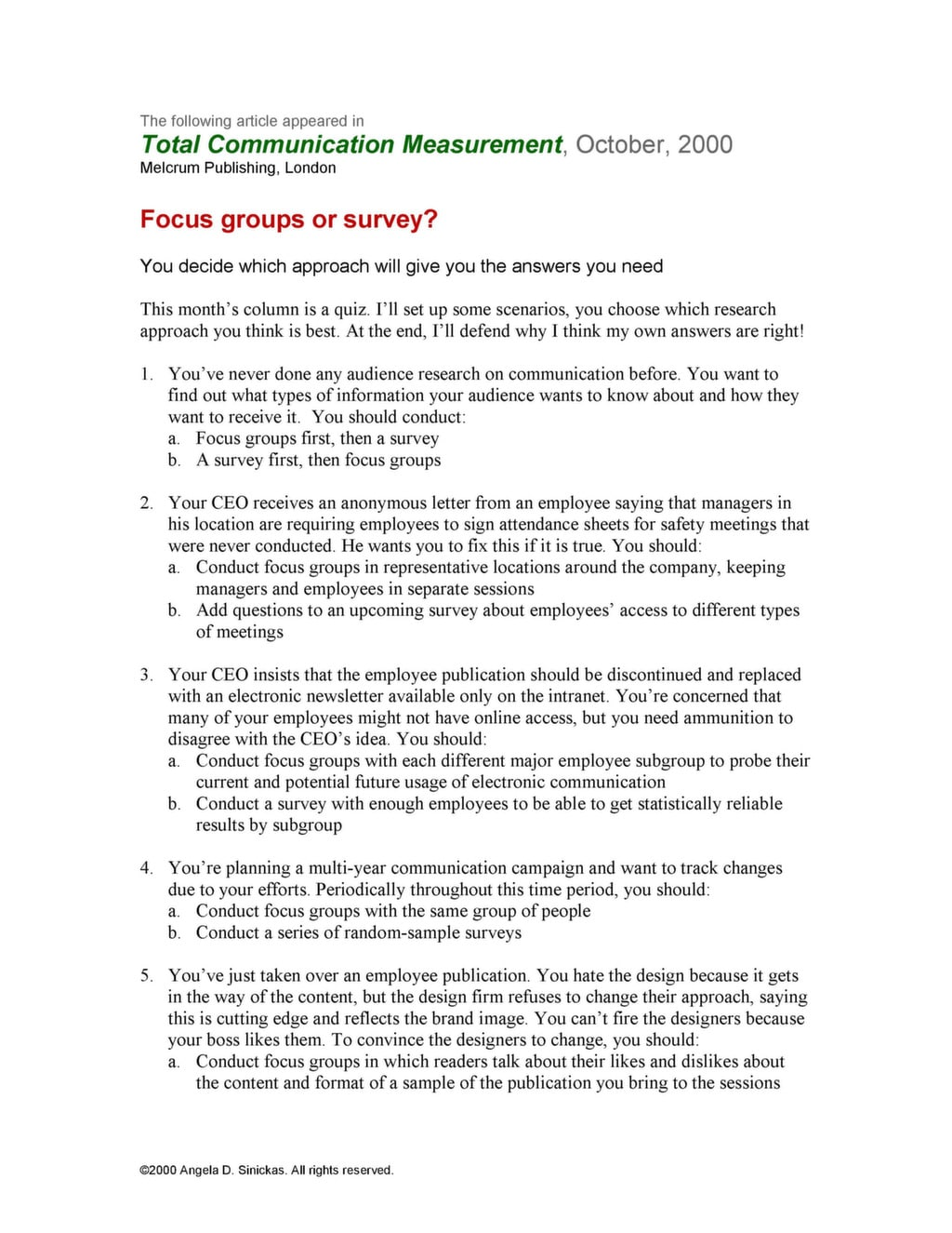 example of questionnaire in a focus groupe