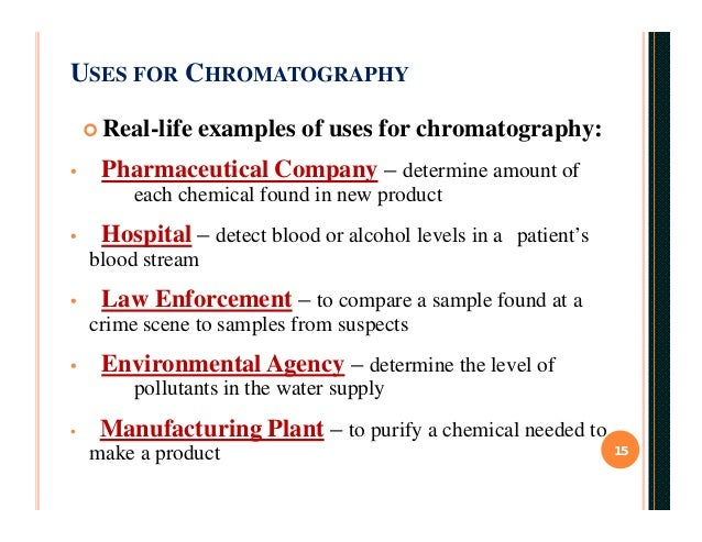 what is an example of chromatography