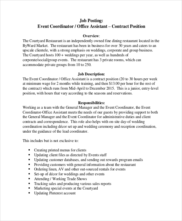 example of tasks duties and responsibilities for resume