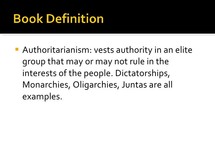 what is an example of authoritarian government