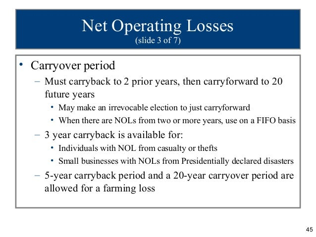 net operating loss carryback example