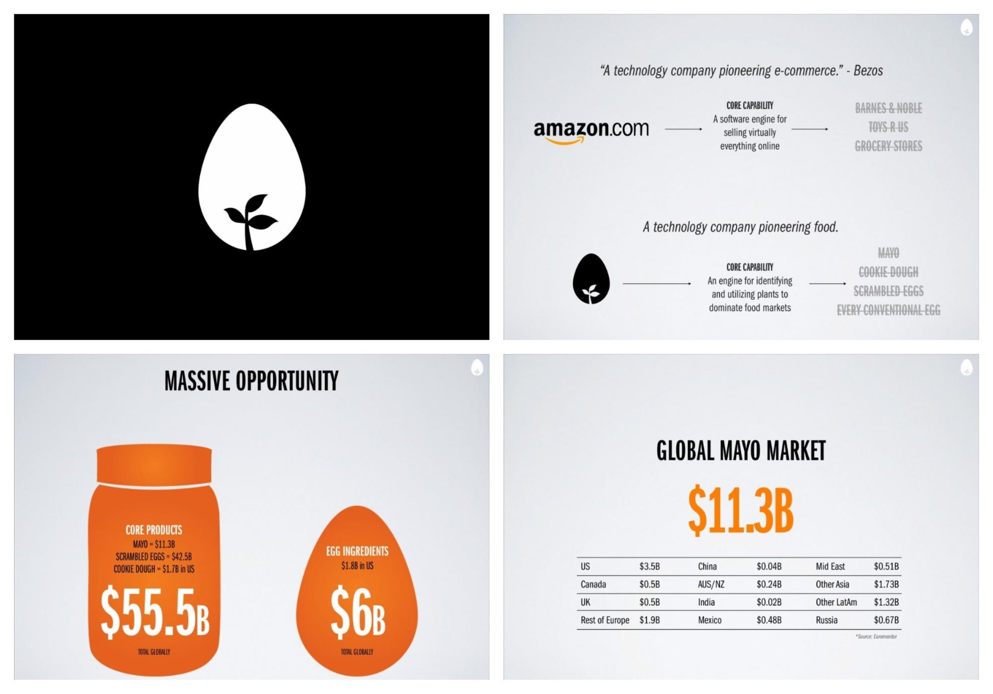 famous pitch deck example financials
