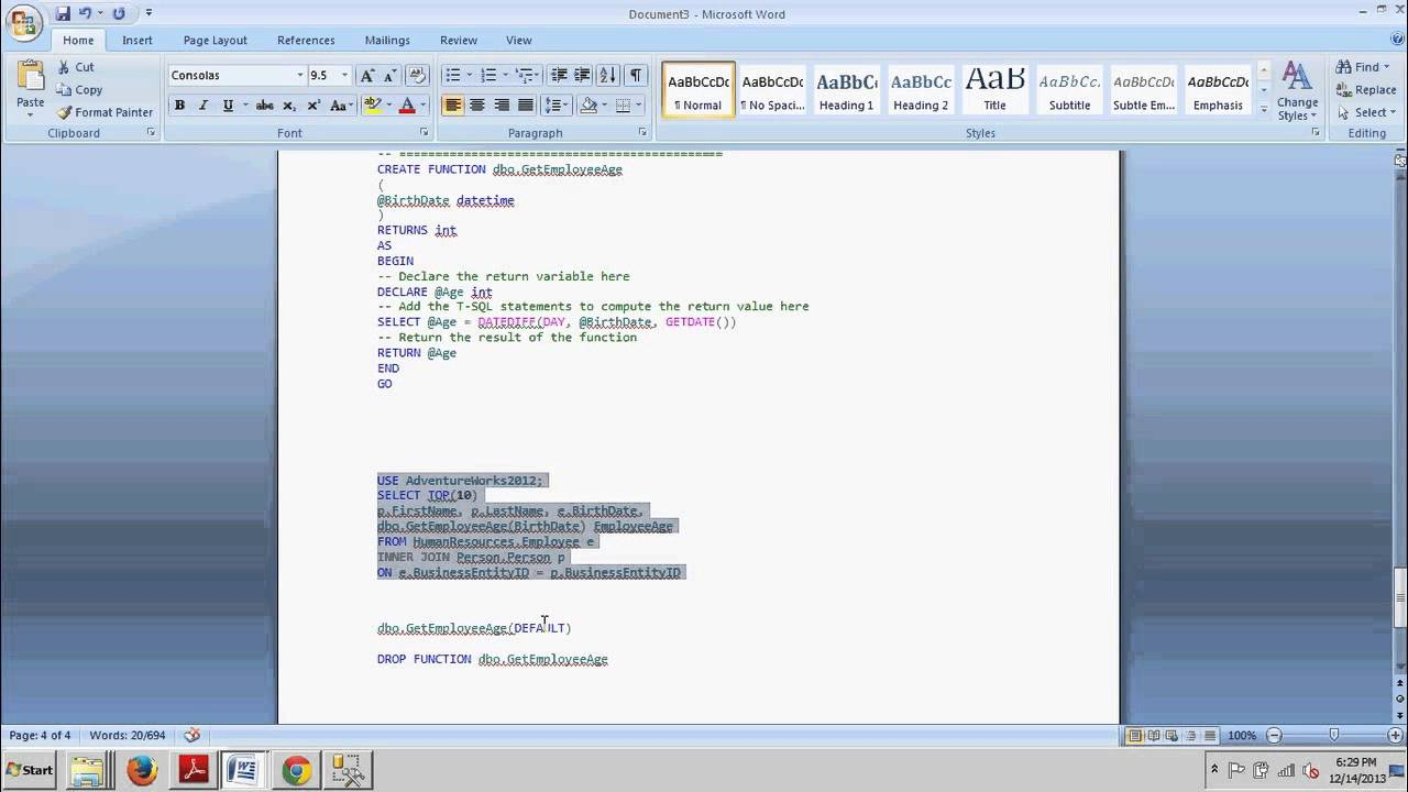 sql server create function example
