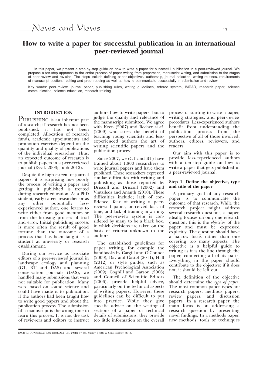 how to peer review a paper example