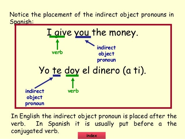 example of sentences when the you is a object pronouns