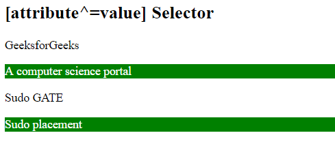 id attribute in html example