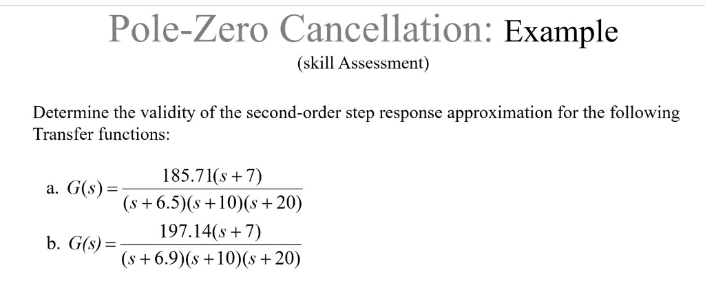 example of second order system