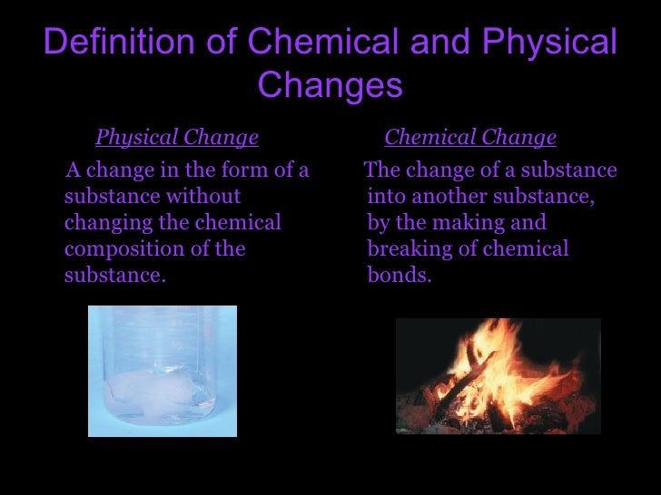 physical change example and explanation