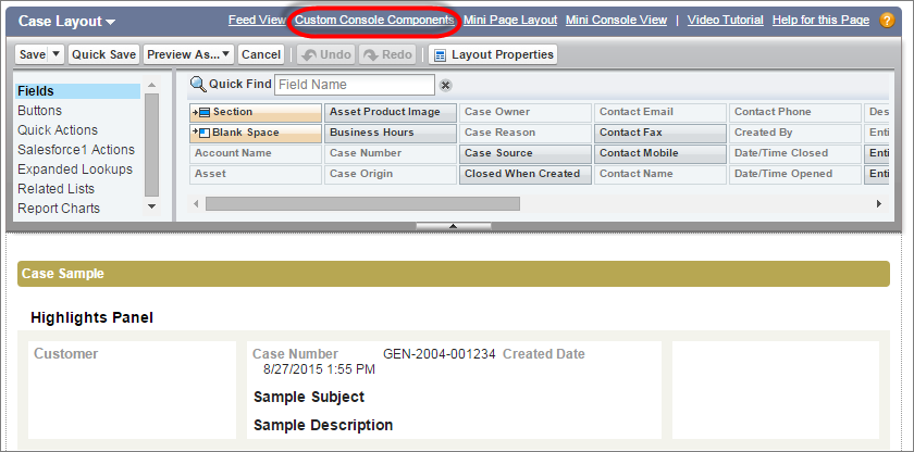 salesforce custom console component example