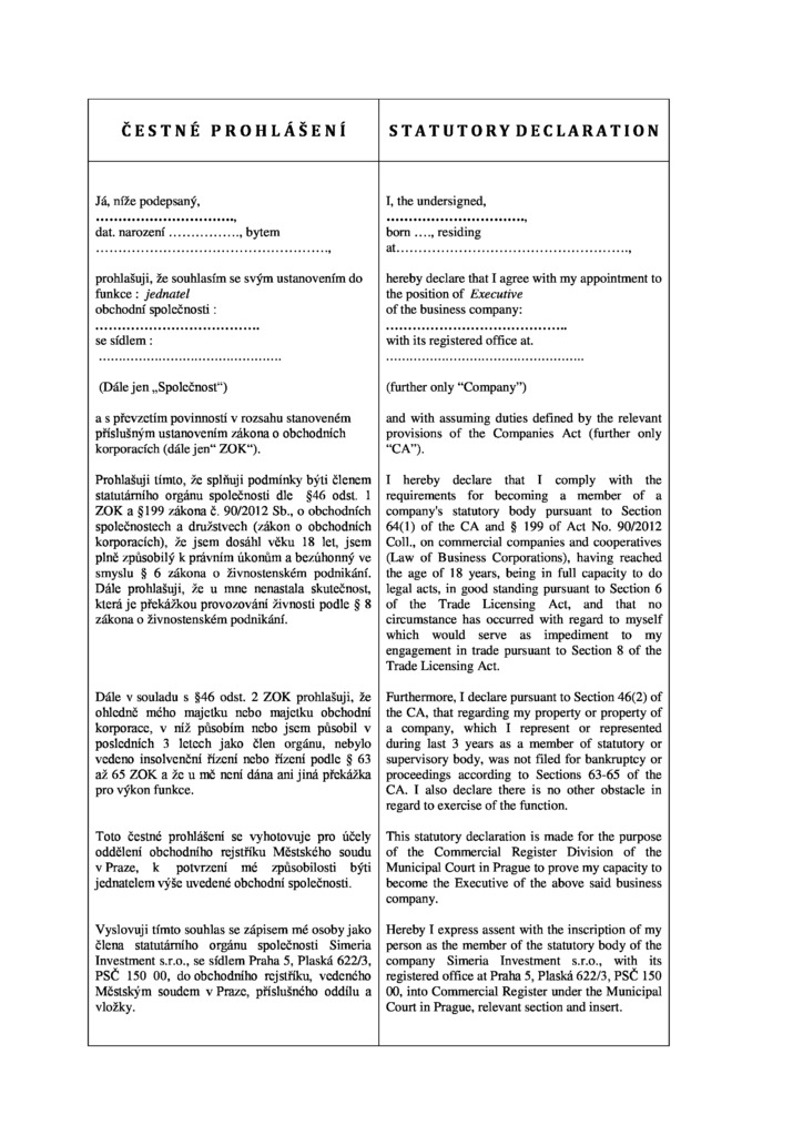 how to fill out statutory declaration form example