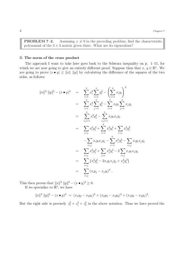 norm of a vector example