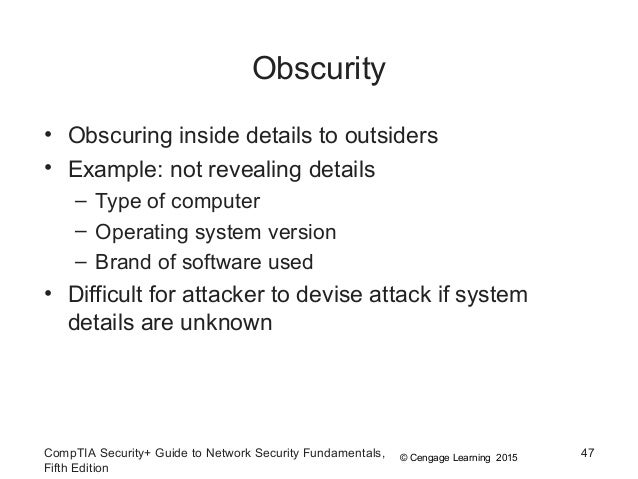 example of security through obscurity in a computer situation