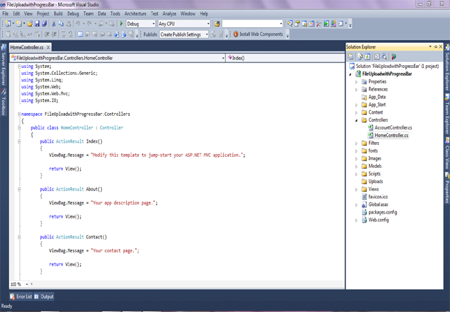 jquery file upload example in mvc