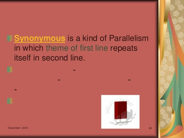 what is an example of synonymous parallelism