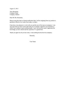 example of a polite 2 weeks notice