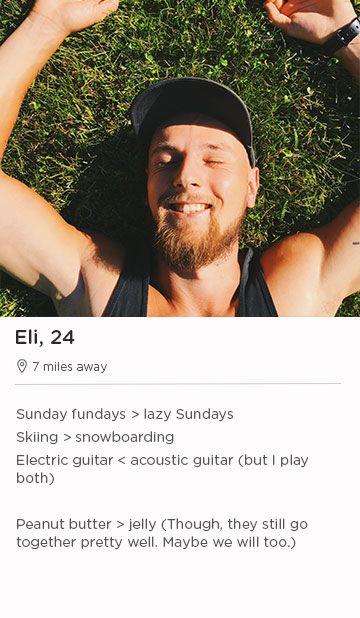 example of a tinder profile