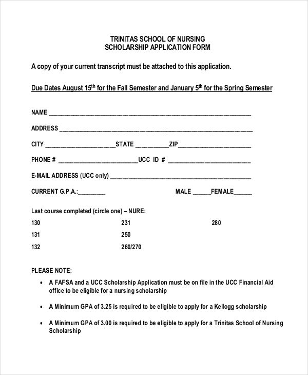 example of application letter for scholarship in college