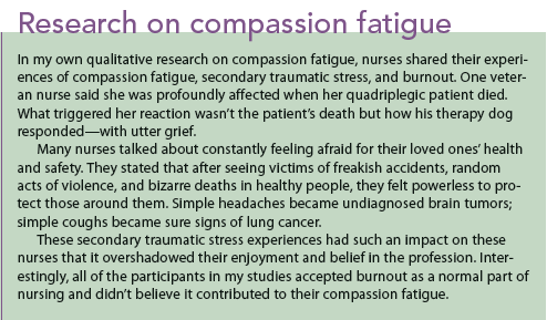 example of demostrating kindness and caring in nursing