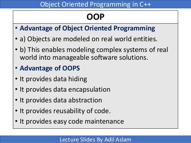 example of encapsulation in object oriented programming