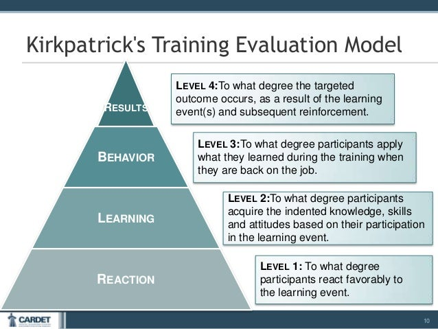 example questions for kirkpatrick level 1