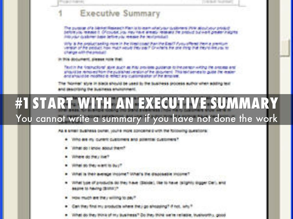 business plan executive summary template example