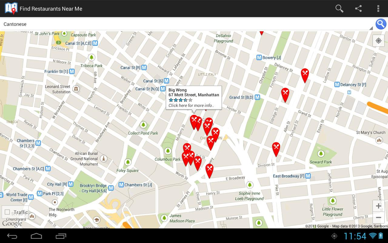 find nearby places android example