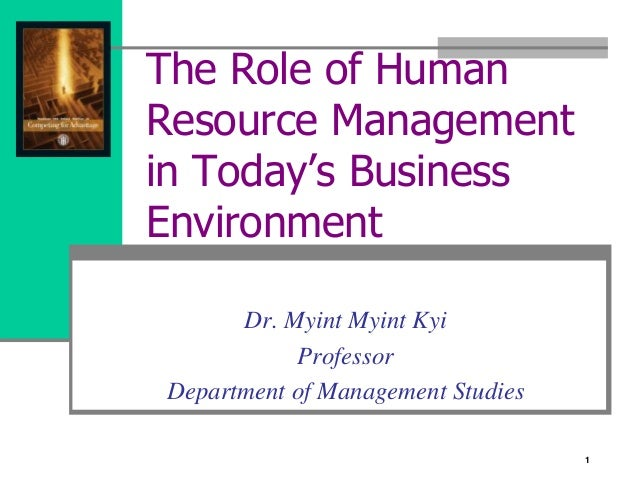 human resource management example company