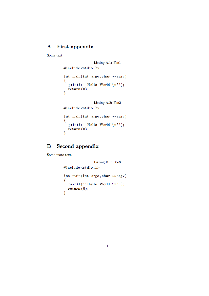 latex appendix tables and figures example