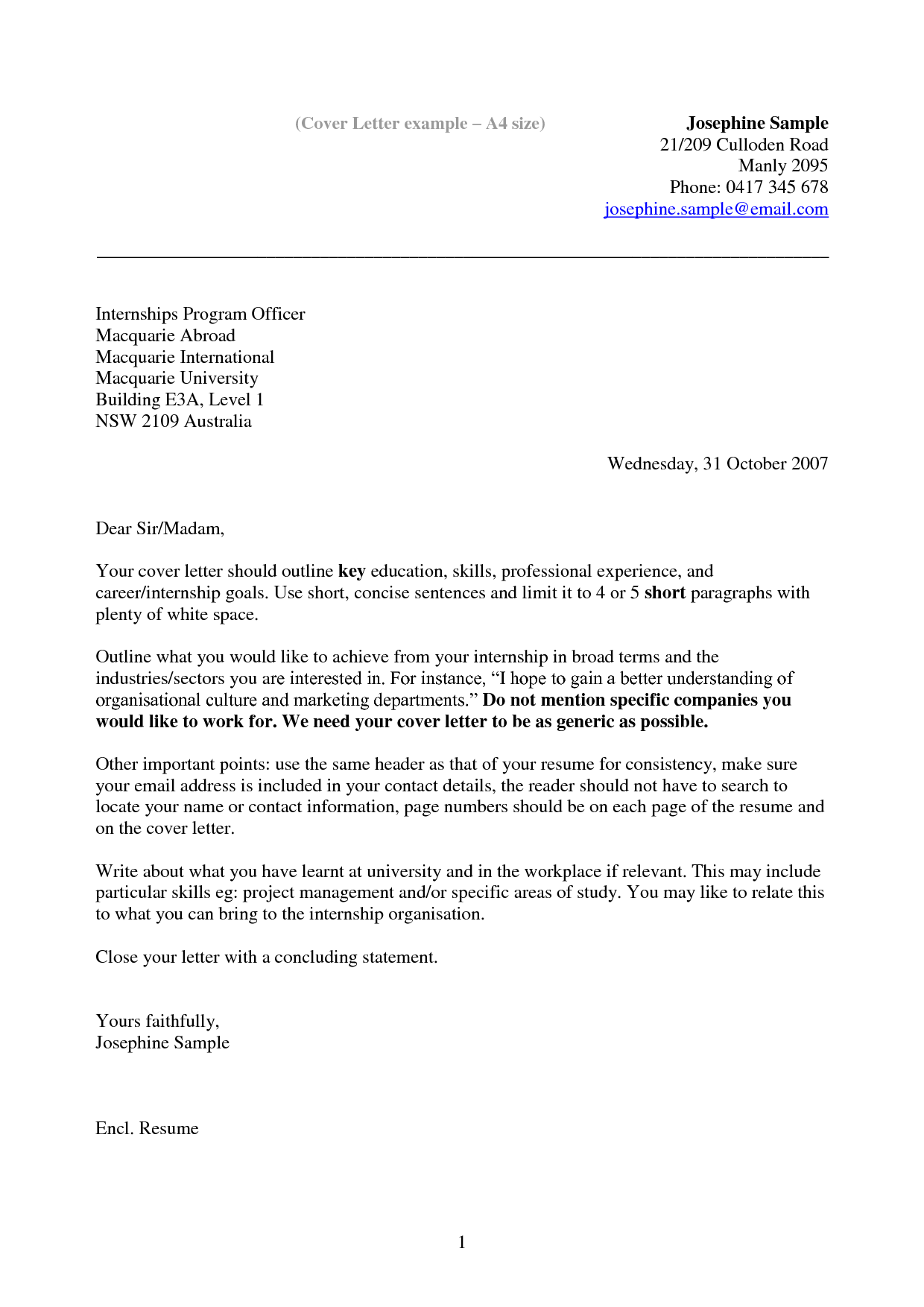 motivation letter in english example