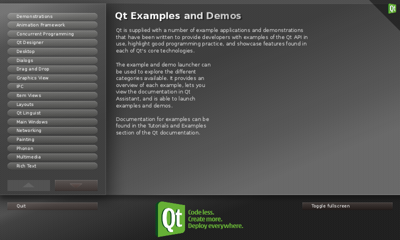 qt creator and open framework example