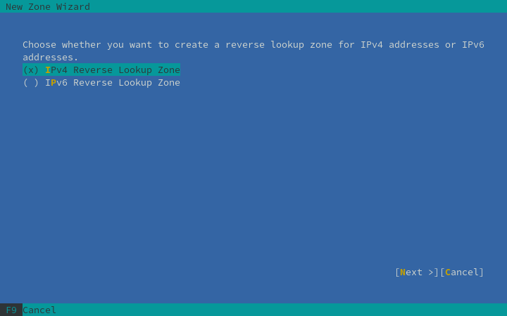 reserve lookup zone linux example