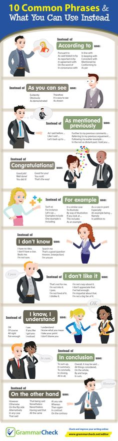 words to use instead of example